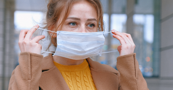 Covid-19, flu, facemask